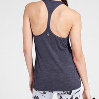 High Neck Shadow Stripe Chi Tank | Athleta