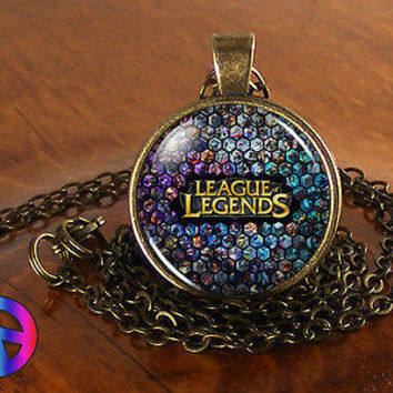 League of Legions LoL 2 MMO Necklace Pendant Video Game Gaming Jewelry Gift