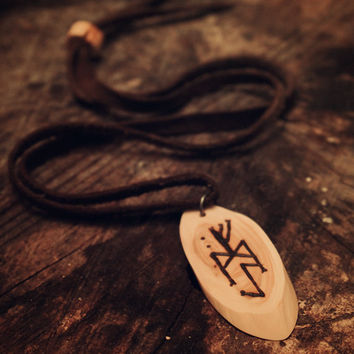 ᚠ ᛇ  ᛗ • Fehu, Eihwaz and Mannaz  • Bindrune necklace • Viking runes • Witch necklace • Pagan jewelry • Norse • Tribal • Sami jewelry