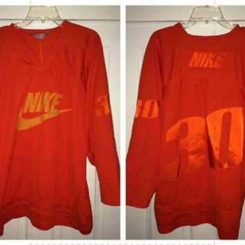 PEAPYD9 Sale!! Vintage NIKE American Football / Hockey Jersey Retro NFL NHL tee shirt
