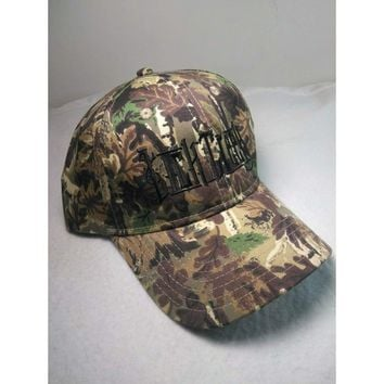 Country Band  Lick Creek Camo Fan Hat Cap One Size Fit NEW by Otto Hats