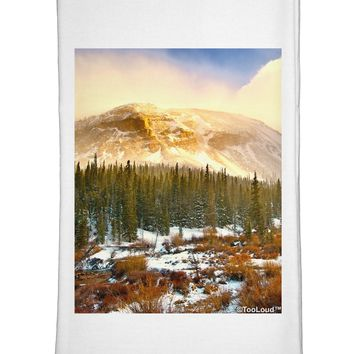 Nature Photography - Mountain Glow Flour Sack Dish Towels by TooLoud