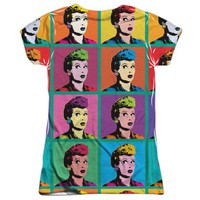 I Love Lucy Lol (Front Back Print) Juniors Sublimation Shirt Sublimate White MD - Walmart.com