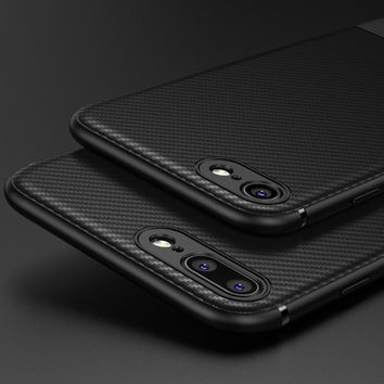 for iphone 8 plus Case Carbon Fiber Luxury Silicon thin Back Soft Accessories 8Plus Cover Case for iphone 8 plus cases iphone8