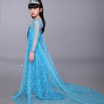 toddler girl costume dress ,girl elsa cosplay dress