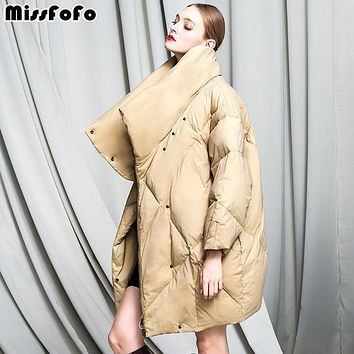 Missfofo 2016 New Goose Down Parka Fashion Winter Women down Jacket
