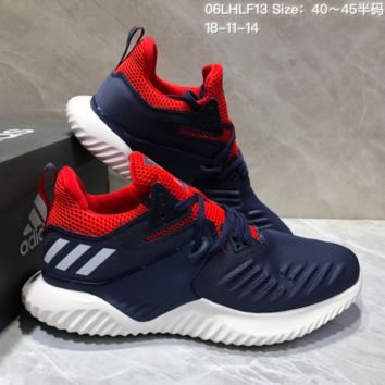 AUGUAU A461 Adidas Alphabounce Beyond 3.5 Mesh Breathable Running Shoes Dark Blue Red