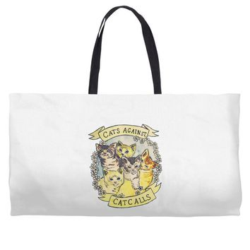cats against cat calls Weekender Totes