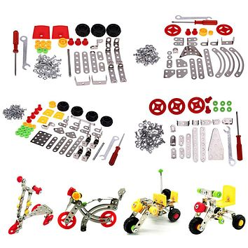 3D Alloy DIY Model Cars Assembling Toy for Kids Children Creative Assembly Car Model Kits Boys Early Educational Toys Gift