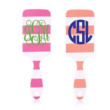 Monogram Striped Paddle Brush Hairbrush