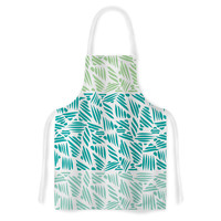 "Pom Graphic Design ""Bamboo"" Teal Green Artistic Apron"