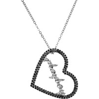 Licensed Black Rhinestone Playboy Heart Necklace