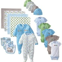 Gerber Newborn Essentials Gift Set for Baby-Boys, Blue, 0-3 Months, 19 Piece