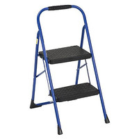 Cosco Blue or Purple Two Step Big Step Folding Step Stool with Rubber Hand Grip