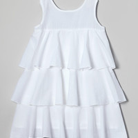 White Tiered Kate Dress - Infant, Toddler & Girls | zulily