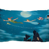"Playing Peter Pan Zippered Pillow Case 16""x 24"" - 2 sides Cushion Cover"