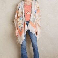 Lecelina Kimono by Anthropologie in Peach Size: One Size Tops