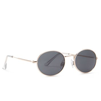 Metallic Oval Sunglasses