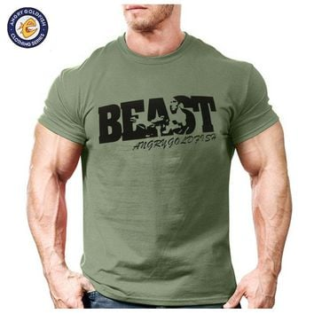 New Arrival Creative Art Design Beast t shirt for Men Summer short sleeve cool shirts 100% original brand breathable soft tops