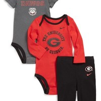 Infant Boy's Nike 'Georgia Bulldogs' Three-Piece Set