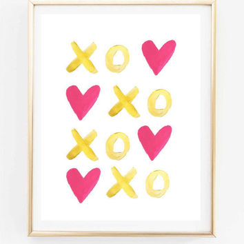 xo painting wedding gift love couple inspirational quote typographic print bedroom couple teen room gift tumblr room decor framed quotes
