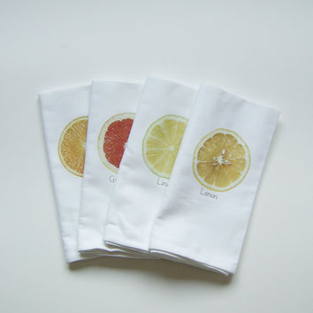 Fresh Squeezed Napkins  - Set of FOUR