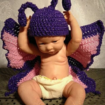 Butterfly Cape and Wings/Crochet Photography Prop/Crochet Butterfly/Butterfly Costume/Butterfly Photo Prop/Butterfly/Crochet Butterfly