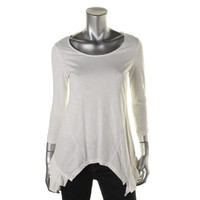 Style & Co. Womens Slub Tiered Pullover Top