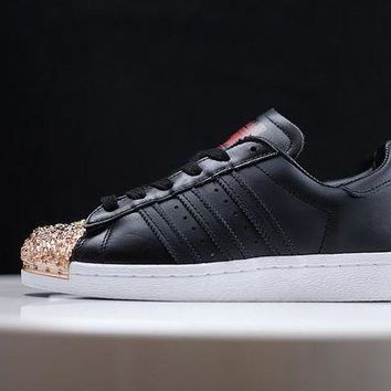 PEAPGE2 Beauty Ticks Adidas Superstar 80s Metal Toe Gold/black