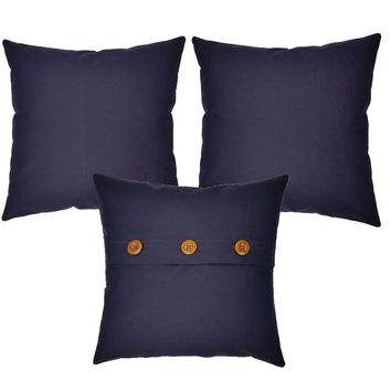 Solid Color Throw Pillows - Set of 3