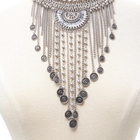 Coin Fringe Statement Necklace | Forever 21 - 1000171220