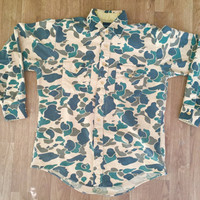Army Camo Camoflauge Vintage Mens Tshirt shirt button up Oxford Clothing