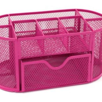 Magnificent Mesh Desk Organizer Office Supply Caddy Drawer With Pen Holder Collection Pink Home Interior And Landscaping Sapresignezvosmurscom
