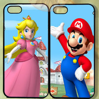 Mario and Princess Peach Couple Case UP-iPhone 5, iphone 4s, iphone 4, ipod 5, Samsung GS3-Silicone Rubber or Hard Plastic Case, Phone cover