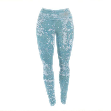 "Jennifer Rizzo ""Galvanized Blue"" Vintage Gray Yoga Leggings"
