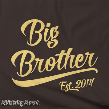 Big Brother EST. T-Shirt - Children's Boys TShirts Personalized Brother Tees Kids Tee Established Custom