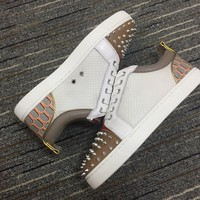 Christian Louboutin Cl Louis Junior Spikes Orlato Sneakers Reference 2 - Best Online Sale