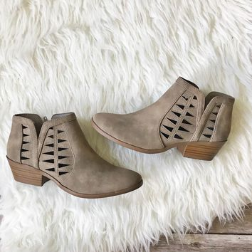 Taupe Cutout Booties