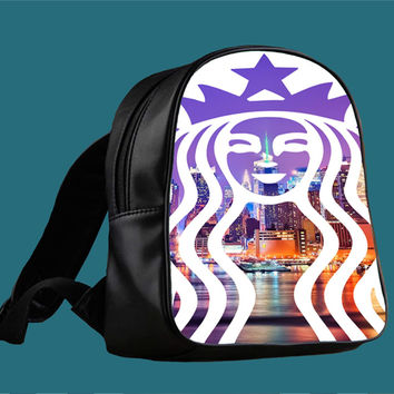 Starbucks new york for Backpack / Custom Bag / School Bag / Children Bag / Custom School Bag *