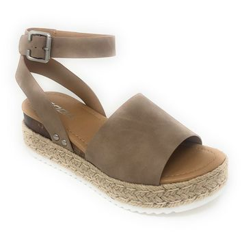 Soda Topic Natural Espadrille Platform Sandals