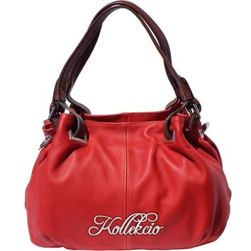 Italian Calf Skin Red Genuine Leather Shoulder Bag