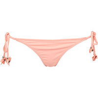 River Island Womens Orange 3D flower side tie bikini bottoms