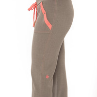 Great Registered Nurse Gift for the Holidays!! Pink (Salmon) and Gray Nursing Uniform Medical Scrubs Dental Hygienist Pant