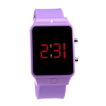 Brand New Fashion Silicone Led Digital Watch Men Women LED Wrist Watch 2016 Multicolor Unisex Silicone Band Sport watches