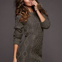 Slouchy Cable Sweaterdress