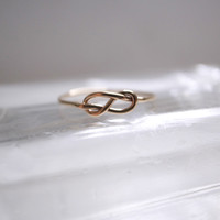 Infinity ring- 14k gold filled