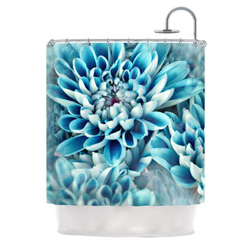 "Susan Sanders ""Floral Paradise"" Blue Flower Shower Curtain"