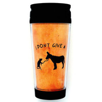 "Kitschville — ""I Don't Give a Rat's Ass"" Travel Mug"