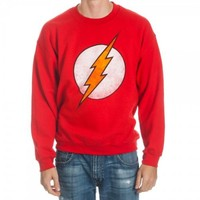 DC Comics The Flash Logo Red Crew Adult Sweatshirt
