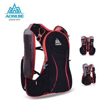 ONETOW AONIJIE 5L Outdoor Running Bag Marathon Hydration Backpack Lightweight Hiking Vest Bag